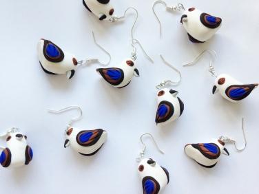 kookaburra earrings